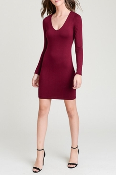 Shoptiques Product: Maroon Bodycon Dress