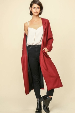Shoptiques Product: Maroon Matilda Coat