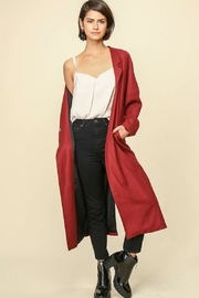 Line & Dot Maroon Matilda Coat - Product Mini Image