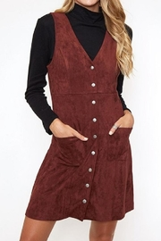 Fantastic Fawn Maroon Suede Dress - Product Mini Image