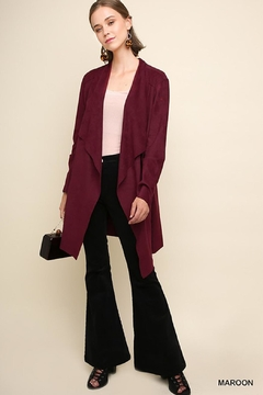 Umgee USA Maroon Suede Duster - Alternate List Image