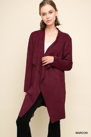 Umgee USA Maroon Suede Duster - Product Mini Image