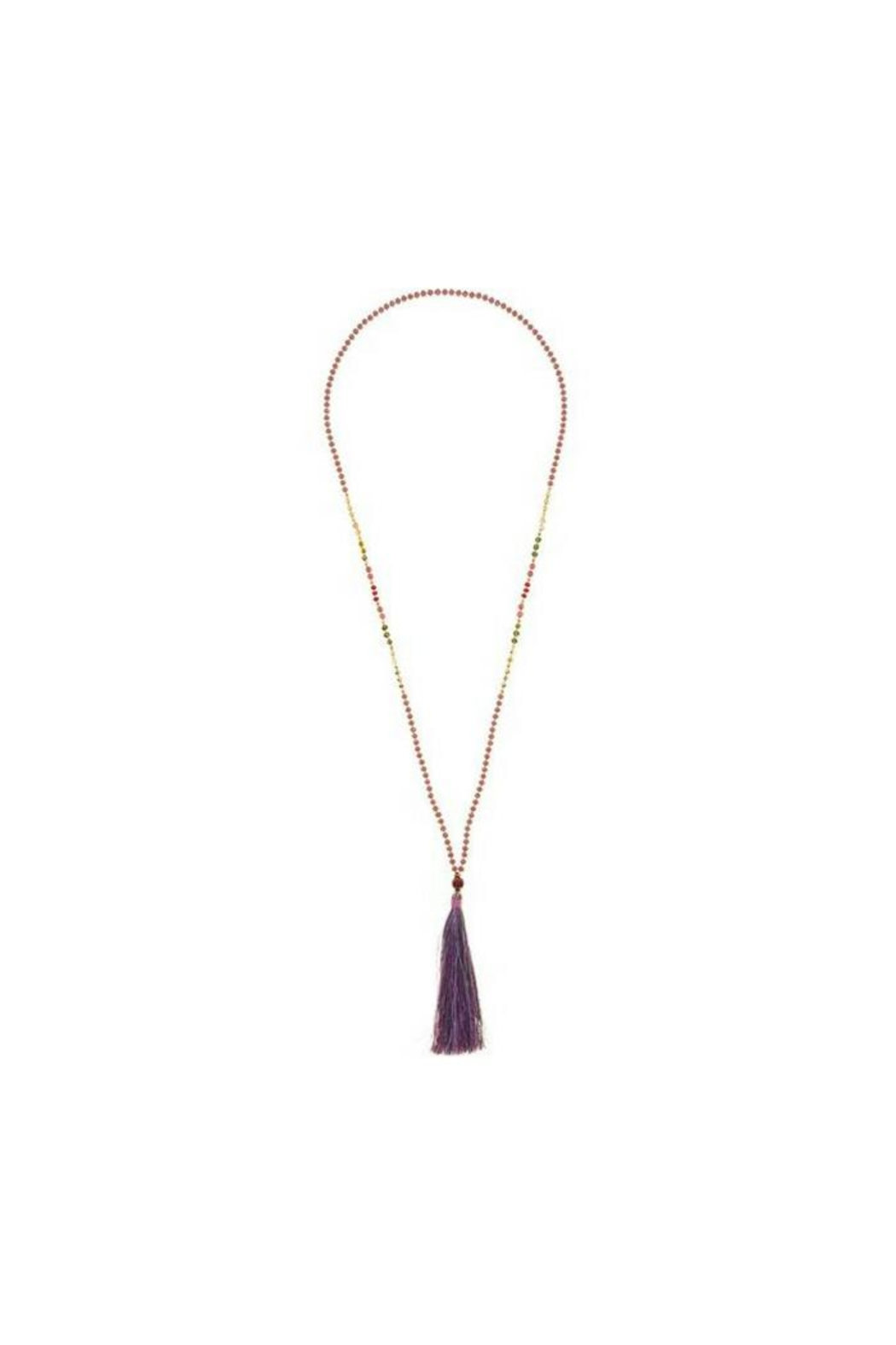 Marquet Anjie Tassel Necklace - Front Cropped Image