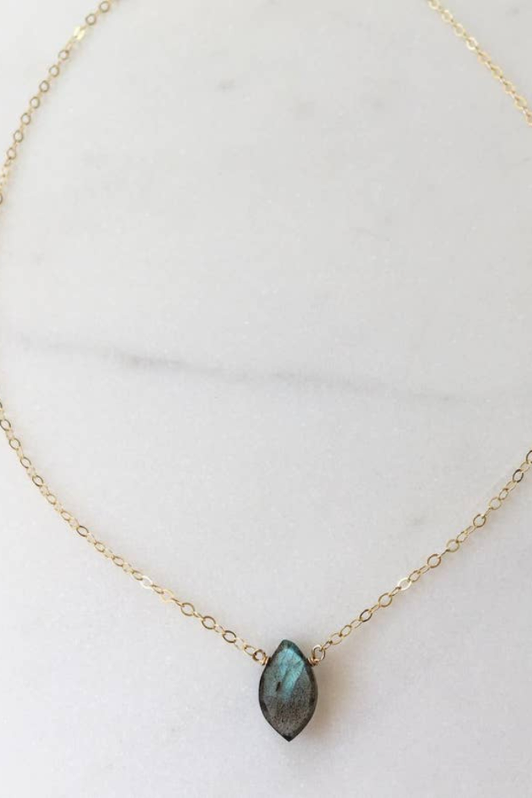 Token Jewelry Marquise Necklace - Main Image