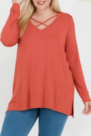 Mittoshop Marsala Long Sleeve - Front cropped