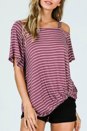 Izzie's Boutique Marsala Striped Top - Product Mini Image
