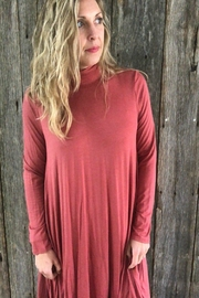 Acting Pro Marsala Turtleneck Tunic - Product Mini Image