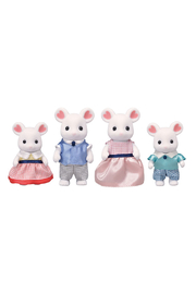 Calico Critters Marshmallow Mouse Family - Front cropped