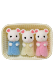 Calico Critters Marshmallow Mouse Triplets - Front cropped