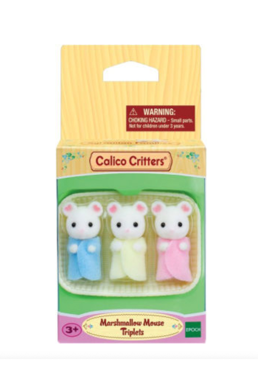 Calico Critters Marshmallow Mouse Triplets - Front Full Image
