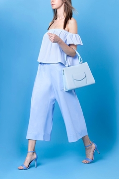 Martella Bags Baby Blue Leather Handbag - Alternate List Image