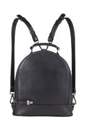 Martella Bags Black Leather Backpack - Product Mini Image