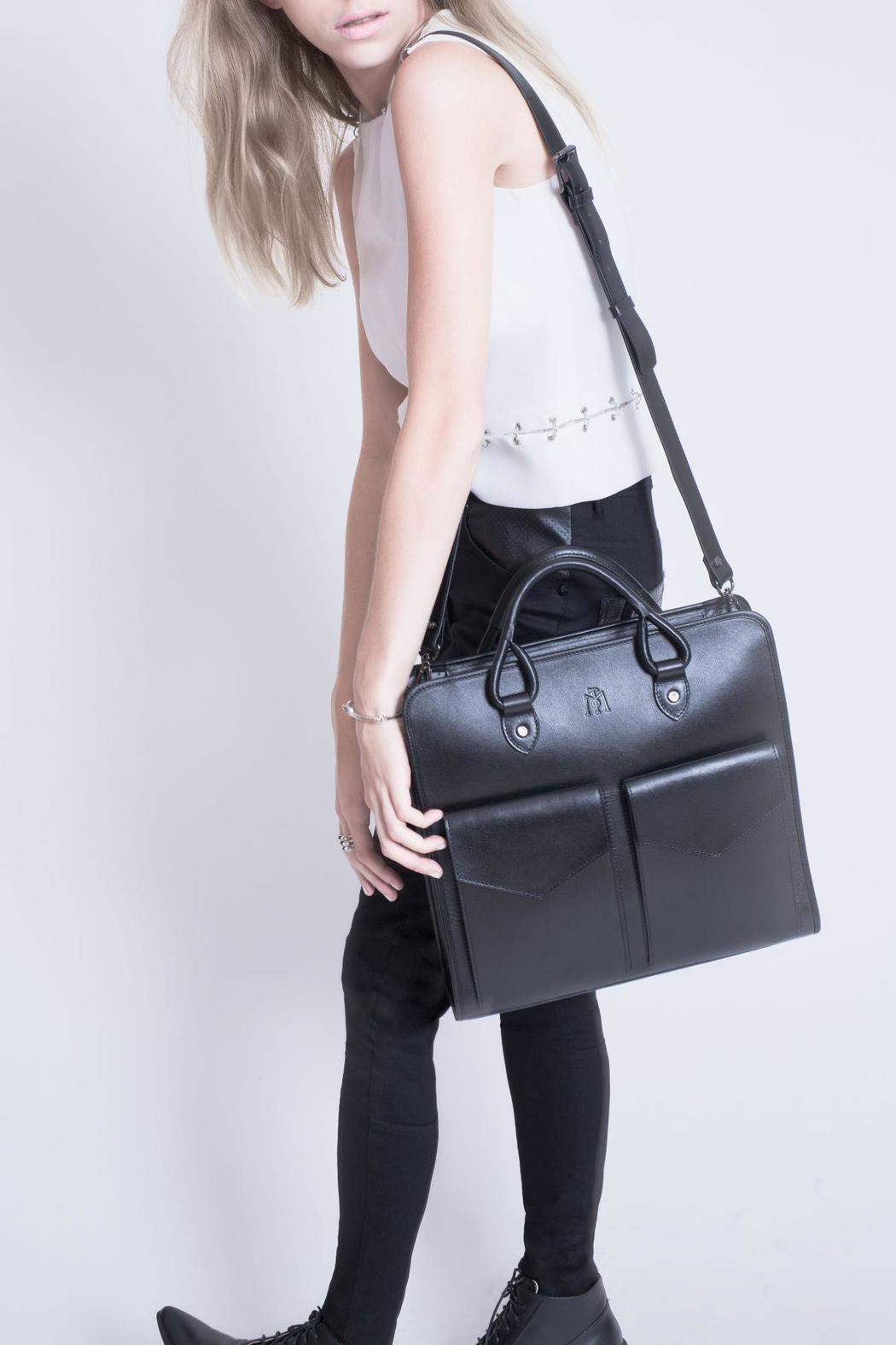 Martella Bags Black Leather Tote - Side Cropped Image