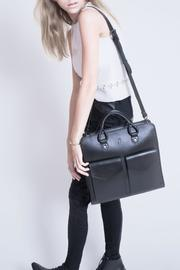 Martella Bags Black Leather Tote - Side cropped