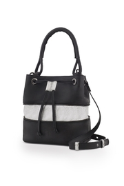 Martella Bags Black-Silver Bucket Bag - Front cropped