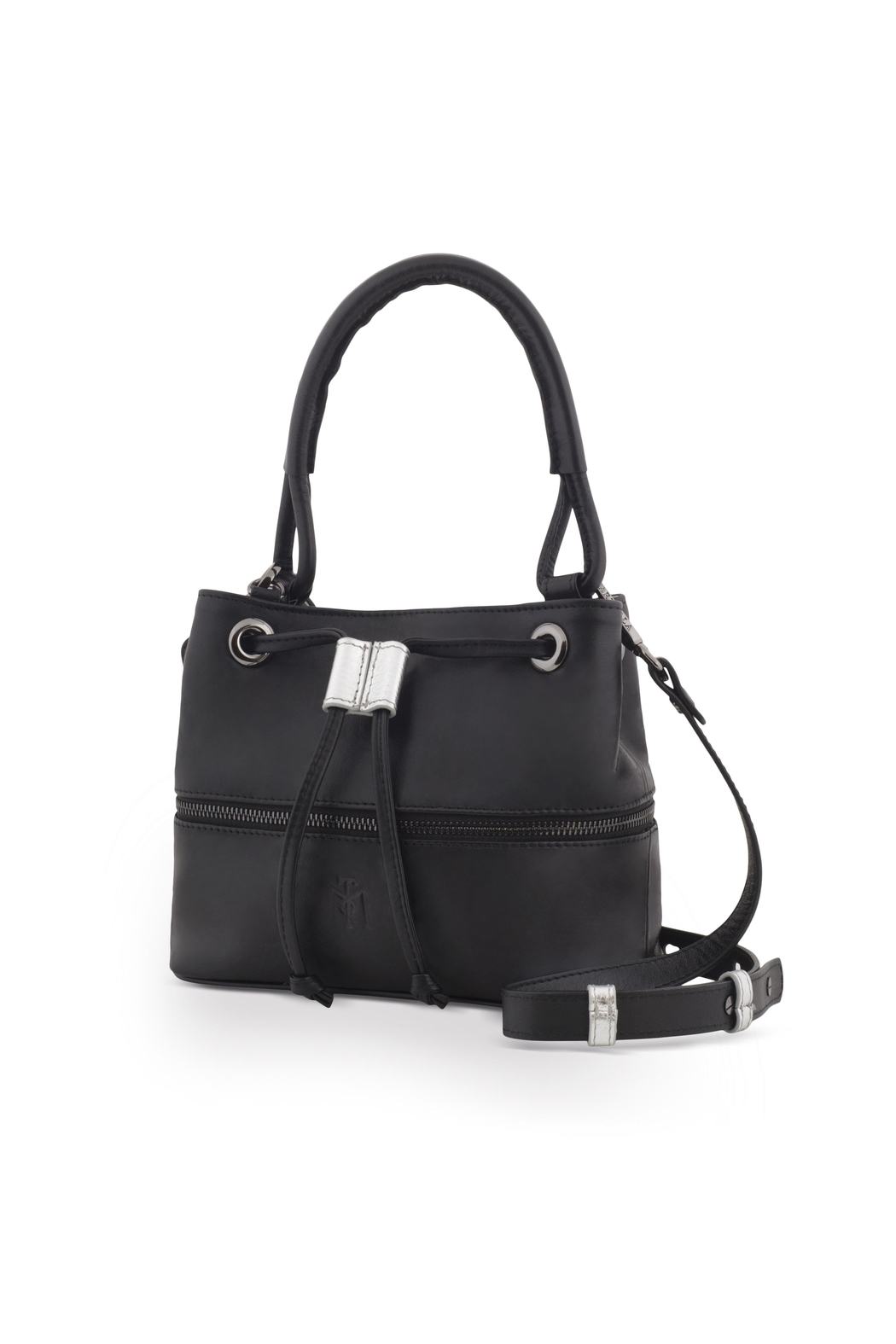 Martella Bags Black-Silver Bucket Bag - Front Full Image