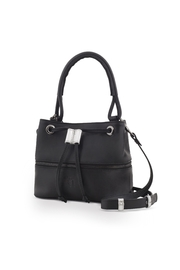 Martella Bags Black-Silver Bucket Bag - Front full body