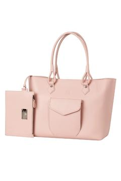 Shoptiques Product: Blush Pink Leather Tote