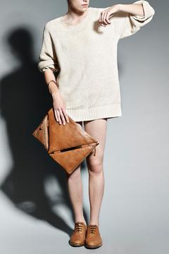 Shoptiques Product: Brown Leather Clutch