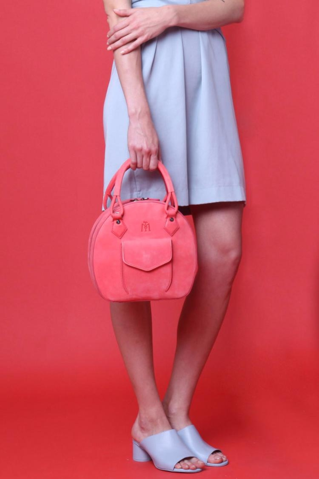 Martella Bags Coral Leather Bag - Back Cropped Image