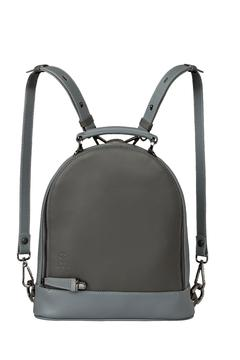 Shoptiques Product: Grey Leather Backpack