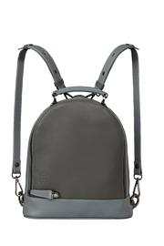 Martella Bags Grey Leather Backpack - Product Mini Image