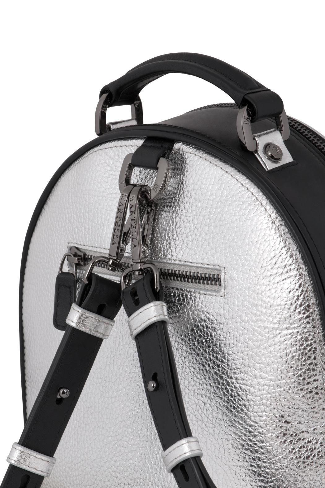 Martella Bags Metallic Leather Backpack - Front Full Image