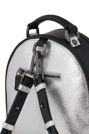 Martella Bags Metallic Leather Backpack - Front full body