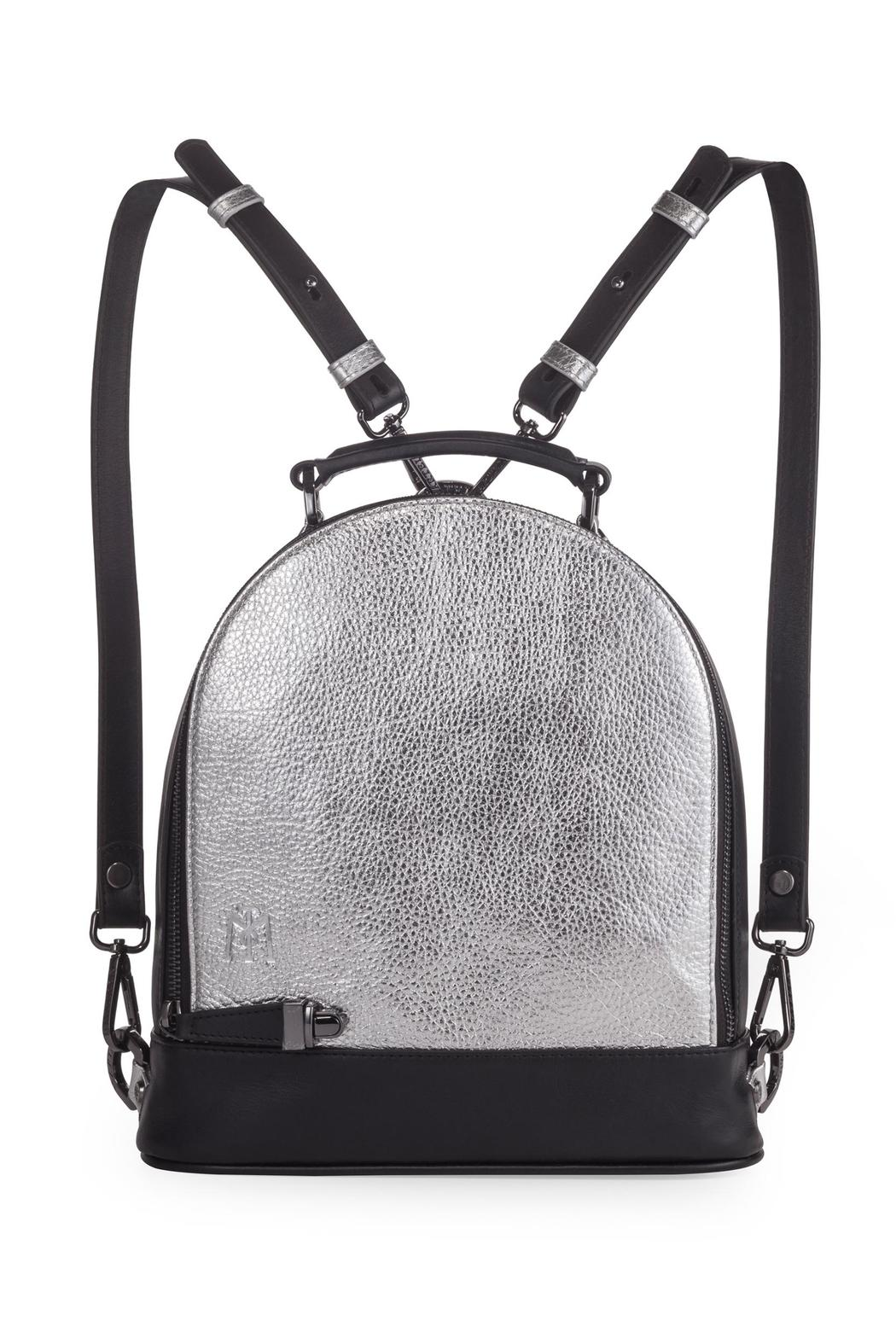 Martella Bags Metallic Leather Backpack - Main Image