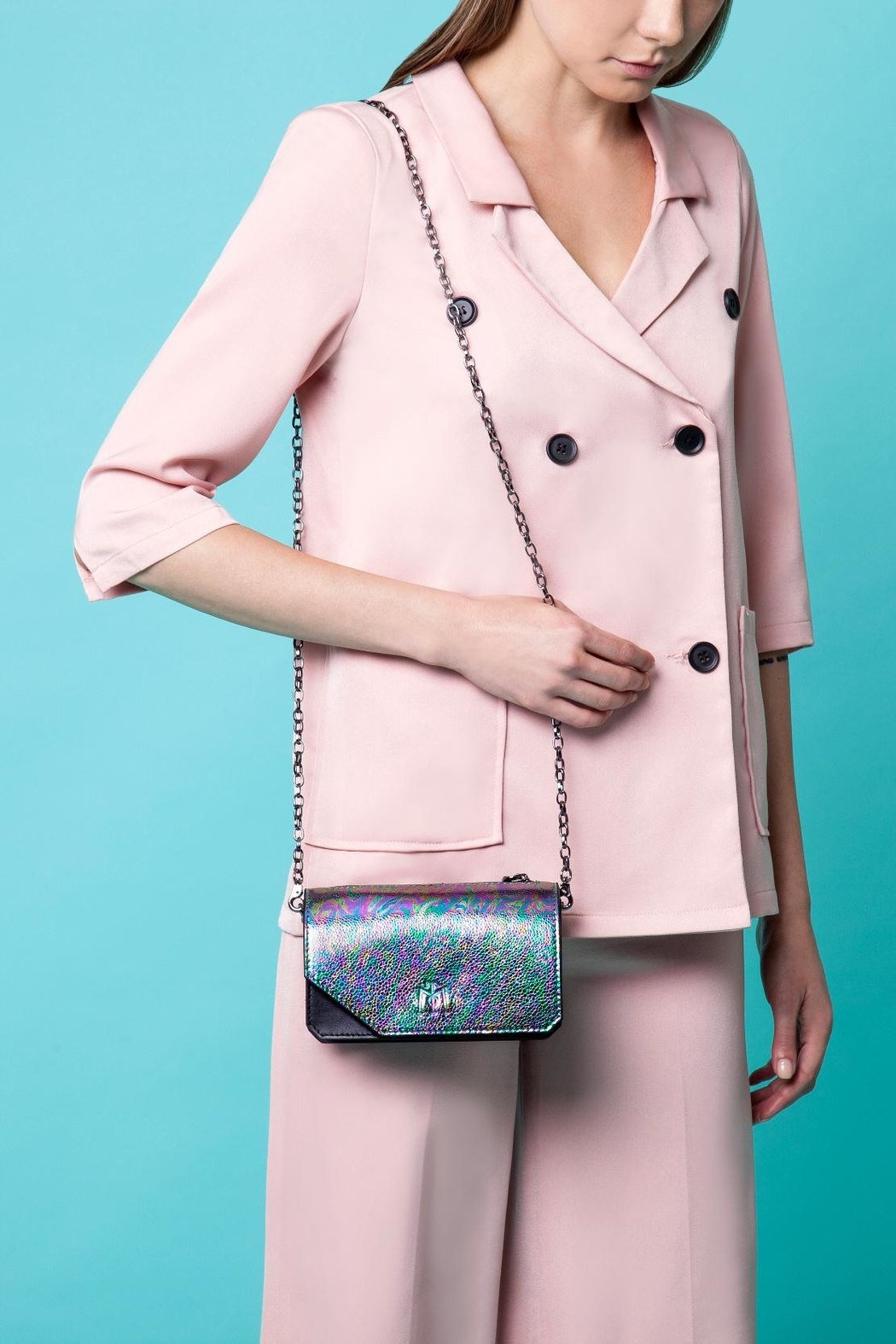 Martella Bags Multicolour Leather Clutch - Side Cropped Image