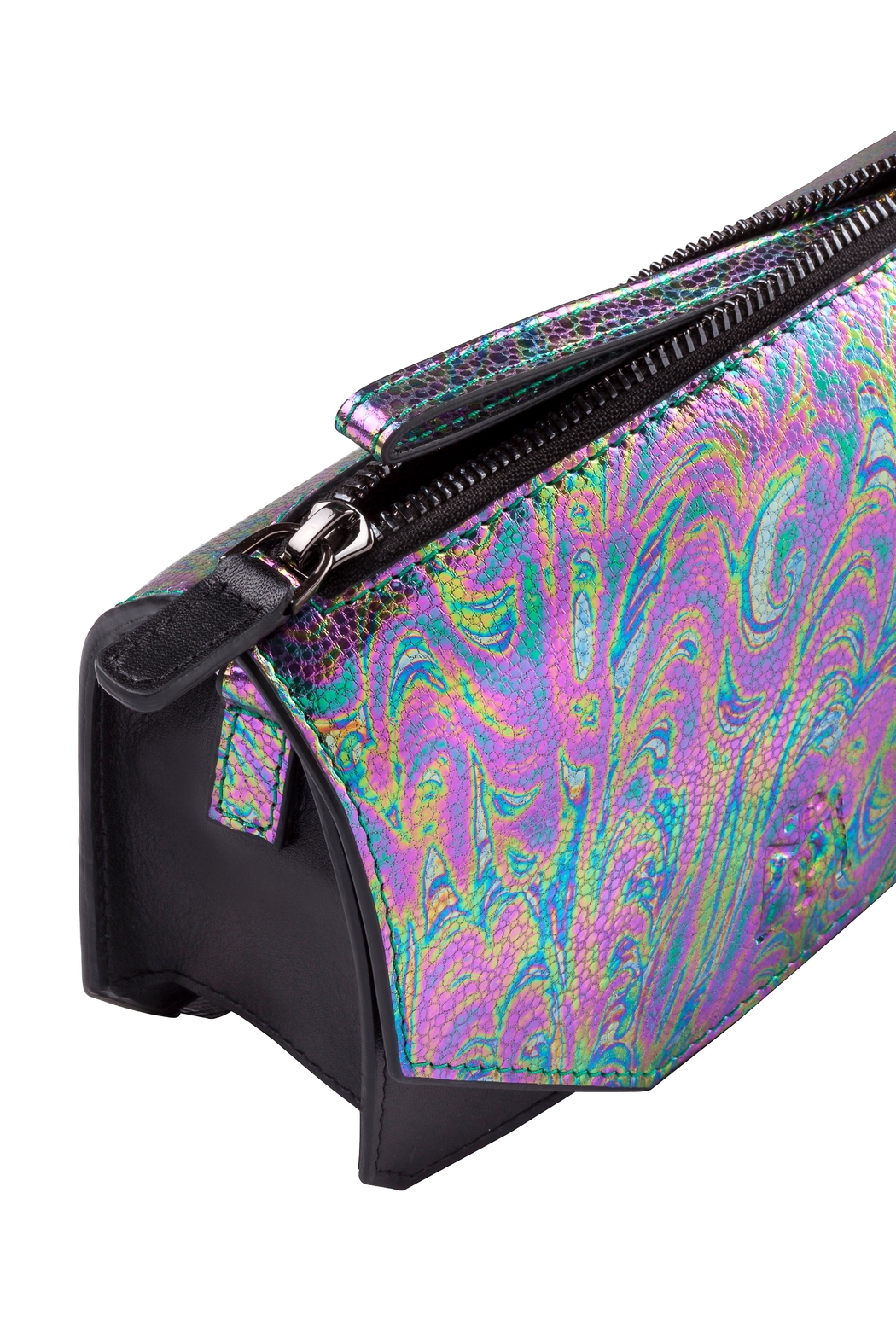 Martella Bags Multicolour Leather Clutch - Front Full Image