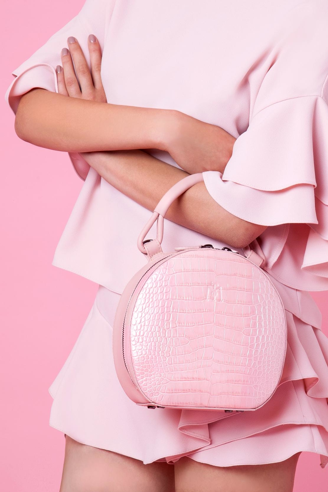 Martella Bags Pink Leather Bag - Side Cropped Image
