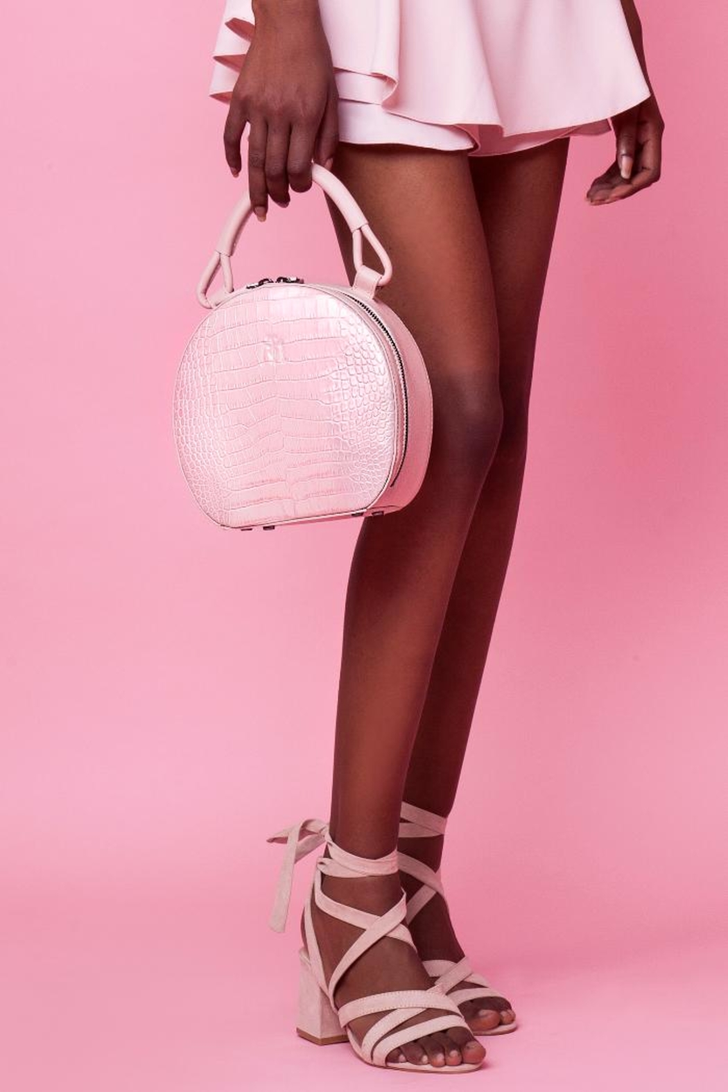 Martella Bags Pink Leather Bag - Back Cropped Image