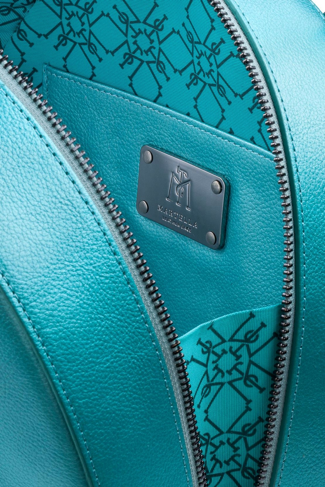 Martella Bags Turquoise Leather Bag - Front Full Image