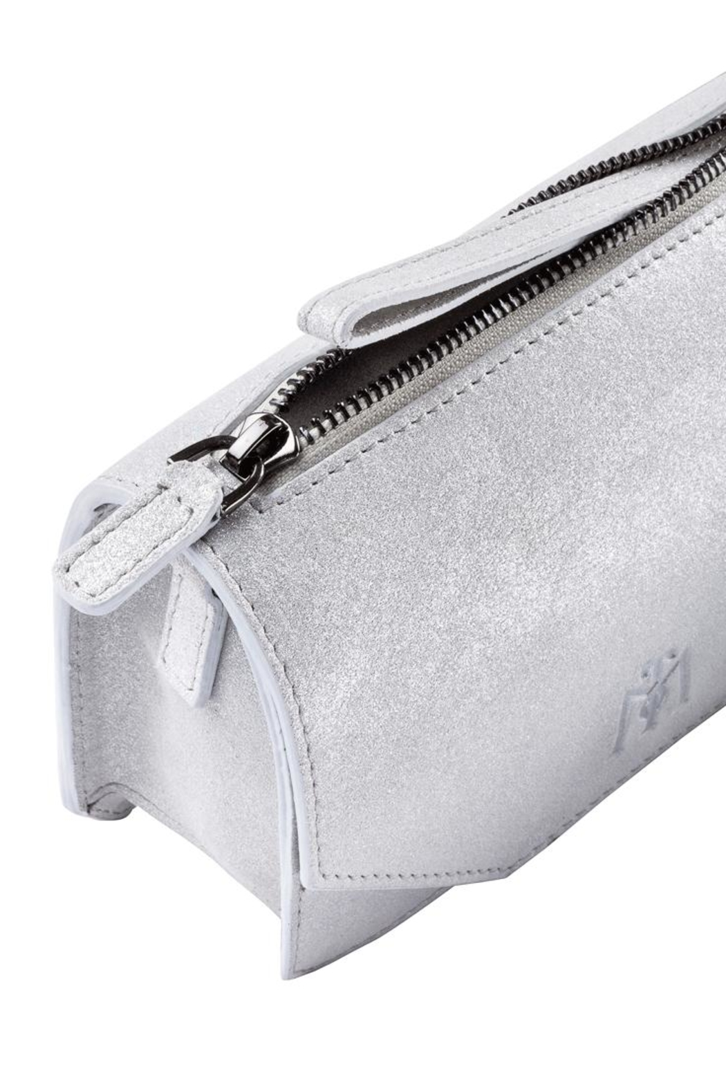 Martella Bags White Leather Clutch - Front Full Image