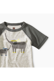 Tea Collection Martial Arts Elephant Baby Tee - Front full body