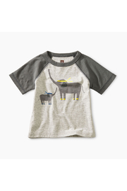 Tea Collection Martial Arts Elephant Baby Tee - Front cropped