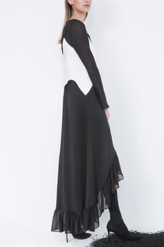 Shoptiques Product: Asymmetric B&W Maxi
