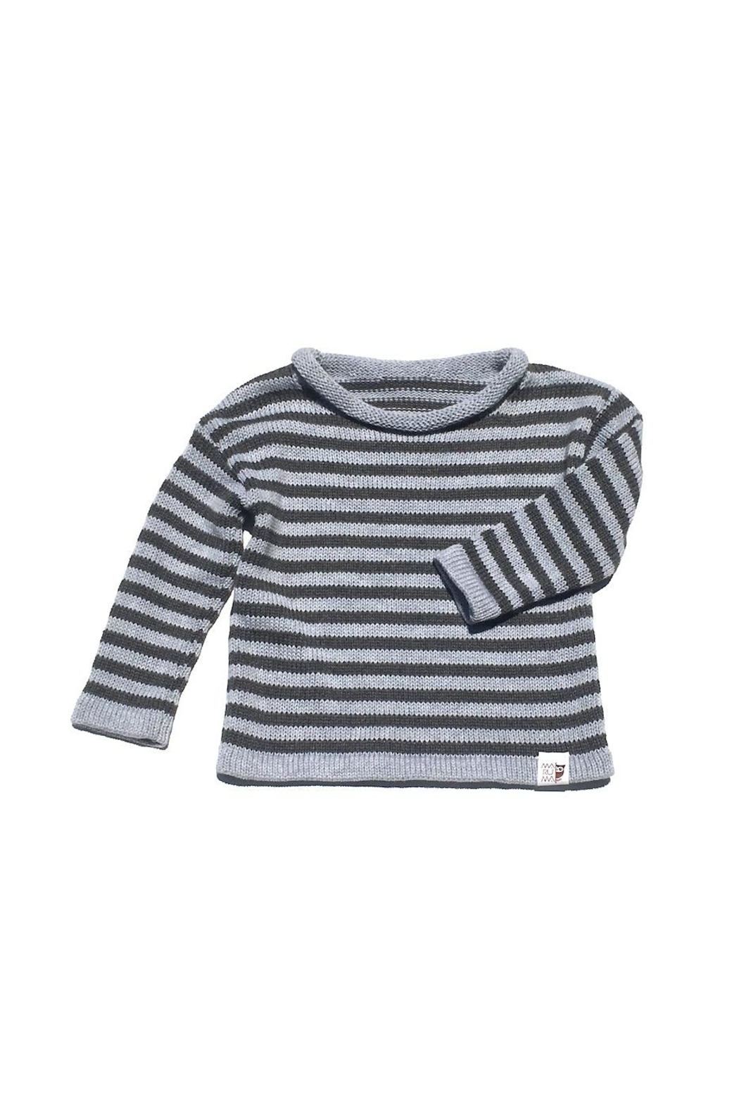 Maruma Kids Charcoal Striped Sweater - Front Cropped Image