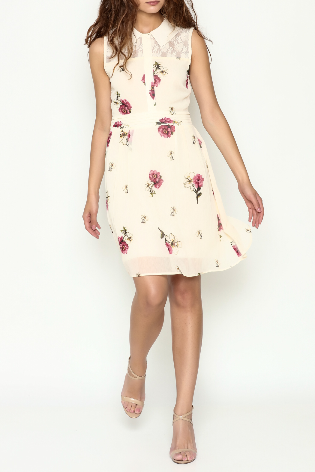Marvy Fashion Floral Print Dress - Side Cropped Image