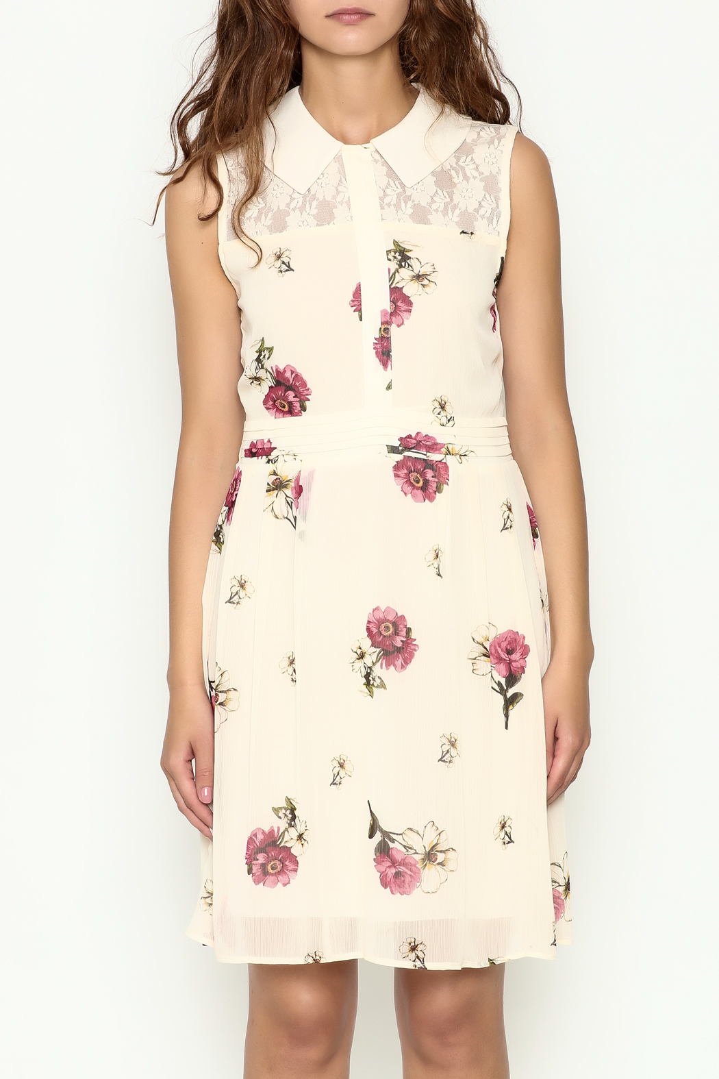 Marvy Fashion Floral Print Dress - Front Full Image