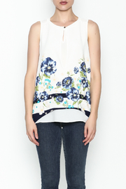Marvy Fashion Flower Printed Top - Front full body