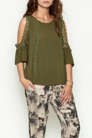 Marvy Fashion Olive Boho Top - Product Mini Image