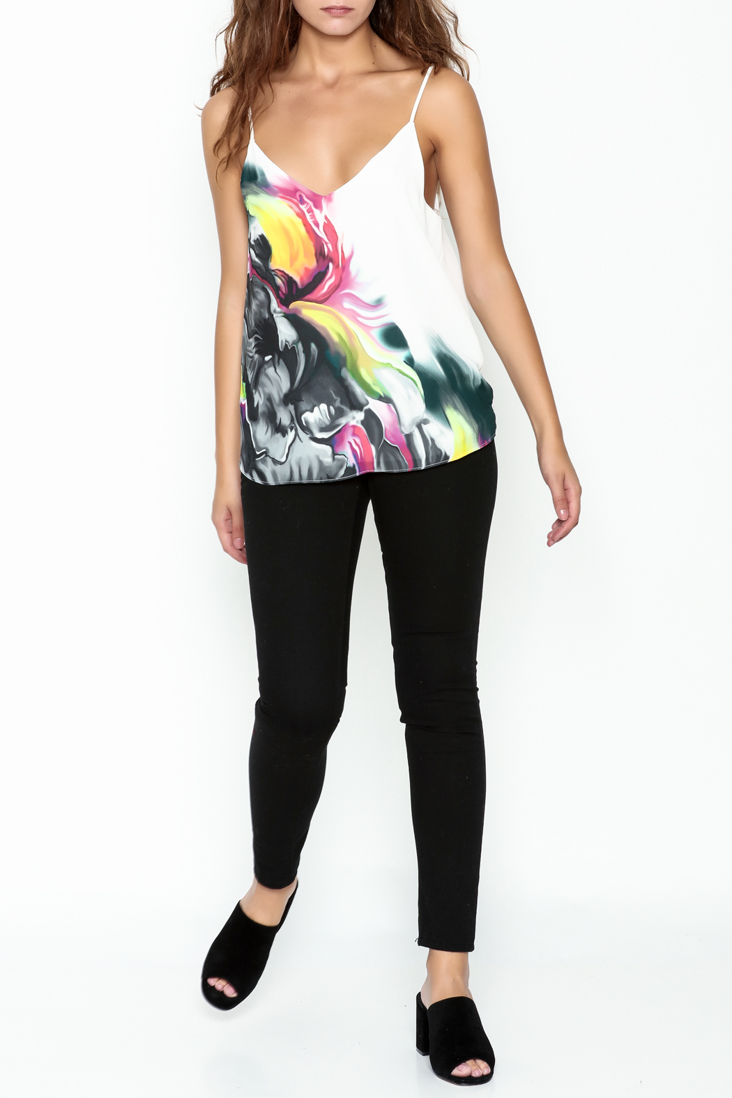 Marvy Fashion Printed Tank Top - Side Cropped Image