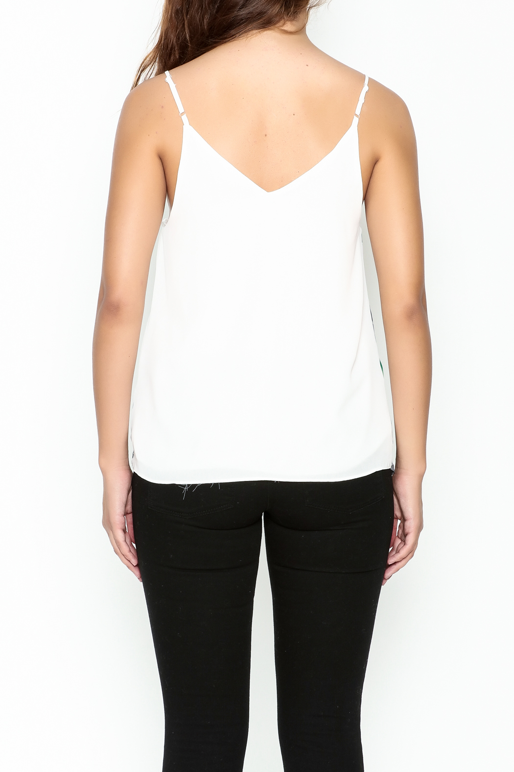 Marvy Fashion Printed Tank Top - Back Cropped Image