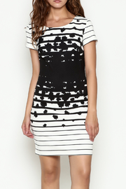 Marvy Fashion Stripe Fitted Dress - Product Mini Image