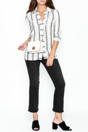 Marvy Fashion Striped Button Down Shirt - Side cropped