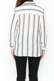 Marvy Fashion Striped Button Down Shirt - Back cropped