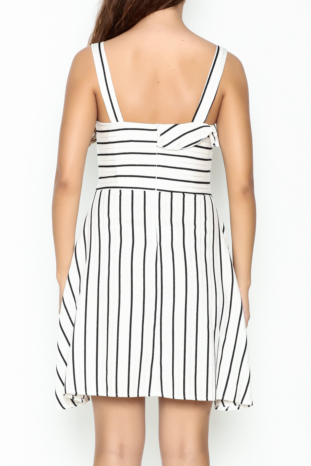 Marvy Fashion Striped Dress - Back Cropped Image