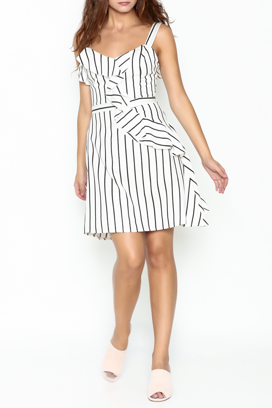 Marvy Fashion Striped Dress - Side Cropped Image